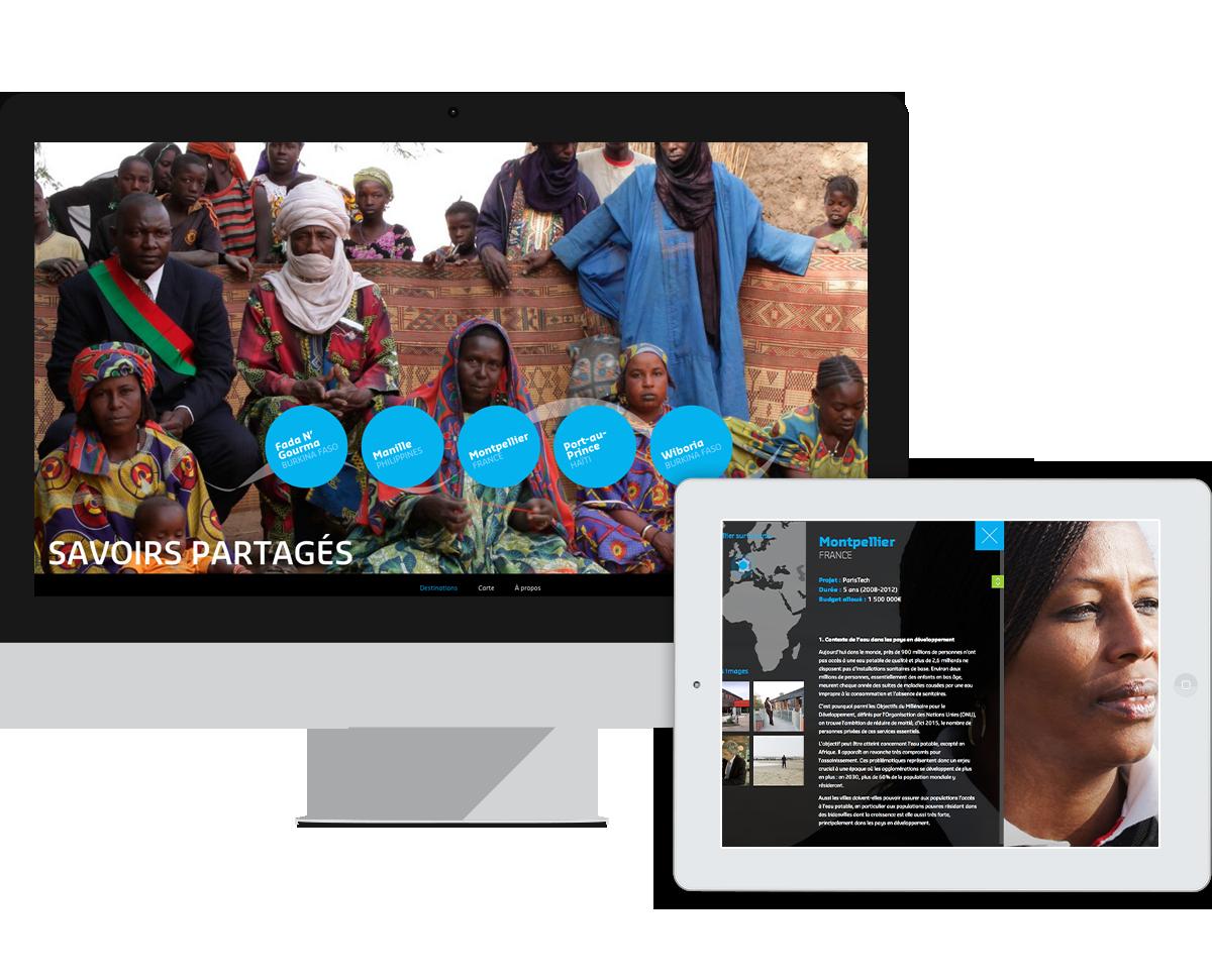 Suez - savoirs partagés - desktop et ipad